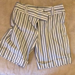 White House Black Market striped shorts size 4